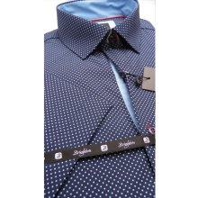 Pánská košile s krátkým rukávem modrá Brighton 110060