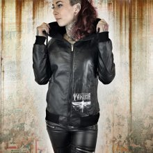 Yakuza bunda dámska Dragon Fly Faux Leather Jacket GJB 9139 black