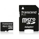 Transcend microSDHC 4GB Class 4 + adaptér TS4GUSDHC4