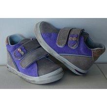 Jonap celoroční kožená obuv 015 šedofialová