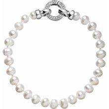 Evolution Group perlový náramek z pravých říčních perel bílý 23001.1