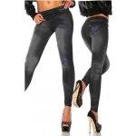 Dámské Džínové legíny jeans look 2 černé F2258B40 fd8f62ca7e