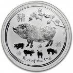 Lunární série II. stříbrná mince 1 AUD Year of the Pig Rok vepře 1 Oz 2019