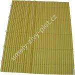 Plot z umělého bambusu BAMBOO MAT - Y, role výška 1,2m x 3m, 3,6m2
