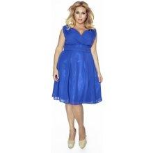 Kartes Krásné dámské šaty šifonové bez rukávu 1174 modrá 2930b9481f