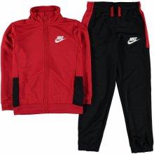 Nike Poly Tracksuit Junior Boys Red-Black