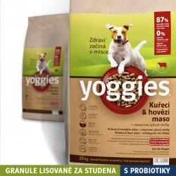 Yoggies granule pro psy lisované za studena s probiotiky Kuřecí a hovězí maso 15 kg