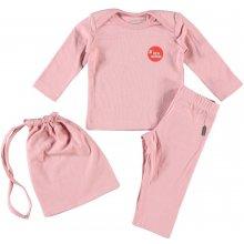 Imps&Elfs Růžový set tričko tepláky a sáček
