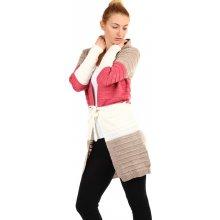 YooY Dlouhý dámský cardigan s kapucí hnědá c851853a40