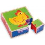Edukalu dřevěné puzzle zvířata