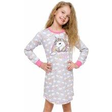 Dívčí noční košile Malina jednorožec šedá f5516e45c4