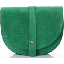 Vittoria Gotti kožená kabelka listonoška Tmavě zelená 193f04ad32d