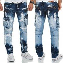 KOSMO LUPO kalhoty pánské KM135 jeans džíny kapsáče,