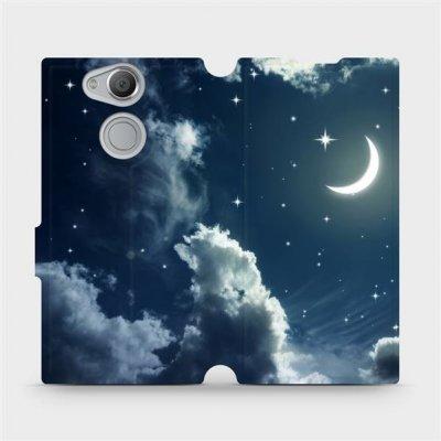 Pouzdro Mobiwear parádní flip Sony Xperia XA2 - V145P Noční obloha s měsícem