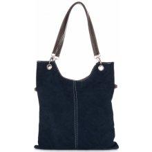 kožené kabelky Tmavě modrá