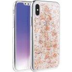 Pouzdro Uniq Hybrid iPhone XS/X Lumence Clear - Rosedale Růžově zlaté