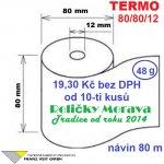Termo 80/80/12 80 m 1ks=19,30 Kč cena za: 48g/m² 1 ks kotouček