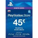 Sony PlayStation Store předplacená karta 45 EUR