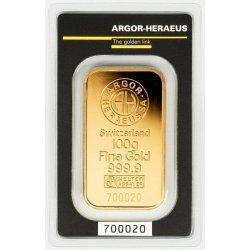 Argor Heraeus SA Zlatý slitek 100 g