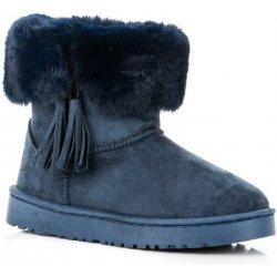 14b7986a922 Dámská obuv Bella Paris FC229BL Originální modré válenky s třásněmi