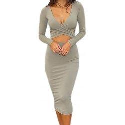 24fashion dámské sexy šaty s průstřihy šedá alternativy - Heureka.cz 904b0f386c