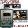 Videotelefon EMOS RL-03M-B2 pro 2 bytové jednotky, domácí dveřní videotelefon (Cenově dostupné řešení pro dvougrnerační domy)