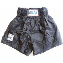 """Thajboxerské trenky 001 """"Nylon"""" Muay černá"""