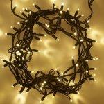 LED vánoční řetěz, 60 LED, 10m, přívod 3m, IP20, teplá bílá