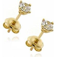 Zlatnictví U Kostela dámské zlaté náušnice se zirkonem 10552 2889079fe3a