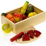 Bigjigs Toys dřevěné potraviny Krájení ovoce v krabičce