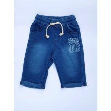 Chlapecké delší šortky jeans vzor
