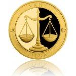 Česká mincovna Zlatý dukát Znamení zvěrokruhu Váhy 3,49 g