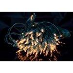 Světelný řetěz 80 žárovek 11,85m čirá barva světla venkovní zelený přívodovvý kabel 5m