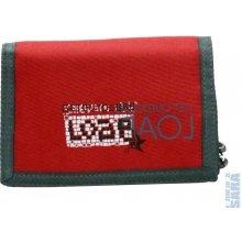 LOAP peněženka BA 7398 BORDER s potiskem červená