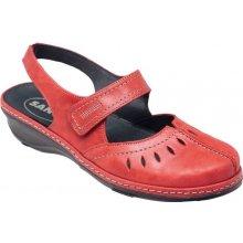 Sante zdravotní obuv Dámské červené kožené sandály   baleríny SANTE CZ 6c7069f44a5
