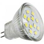 Superled LED žárovka MR11 G4 napětí 230V 2,4W studená bílá 5500-6500K