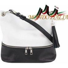 Made In Italy kožená kabelka 143 černá+bílá 3926d299f98