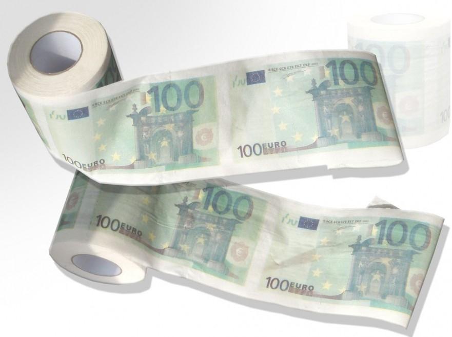 Toaletní papír 100 EUR
