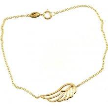 zlatý náramek andělské křídlo 1523
