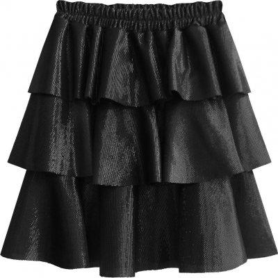 Lesklá mini sukně (508ART) černá