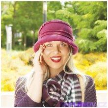 9894c610fa8 Karpet Dámský vlněný klobouk zdobený sámky a korálky sv. šedý melír 934882