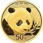 Panda 2018 Zlatá investiční mince 3g