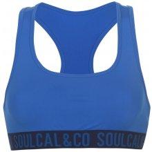 SoulCal Branded Bikini Top Ladies Navy