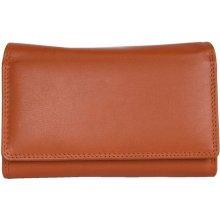 oranžová kožená peněženka HMT