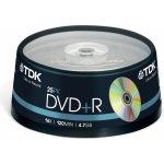 TDK DVD+R 4,7GB 16x, cakebox, 25ks (T19443)