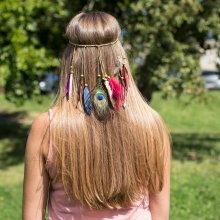 Dámská čelenka Feathers multicolor