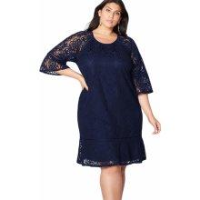 Dámské společenské šaty krajkové modrá 3c32b9c65c