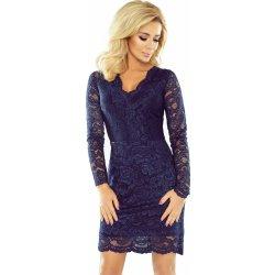 7e0cde48120 Numoco krajkové šaty s výstřihem 170-2 modrá