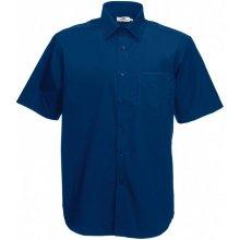 Pánská košile Poplin krátký rukáv, Námořní modř, Fruit of the Loom, 65-116-0