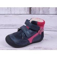 D.D. step kožené barefoot 015-157B modrorůžové cd4dc86576